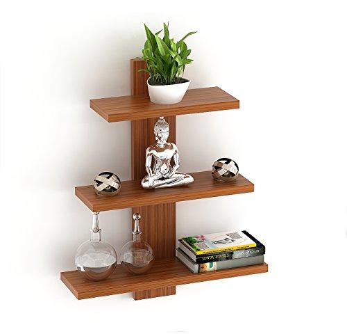 BLUEWUD Phelix Engineered Wood Wall Decor Book Shelf/Wall Display Rack  3 Shelves