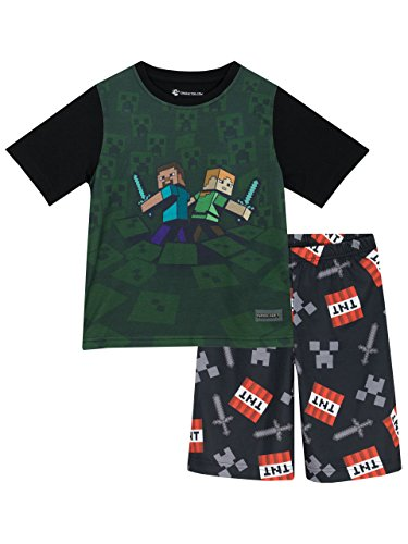 Minecraft Boys' Minecraft Pajamas Size (Minecraft Kids Pajamas)