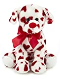 Bearington Romantic Rover Valentines Plush Stuffed Animal Puppy Dog with Hearts, 12 inches