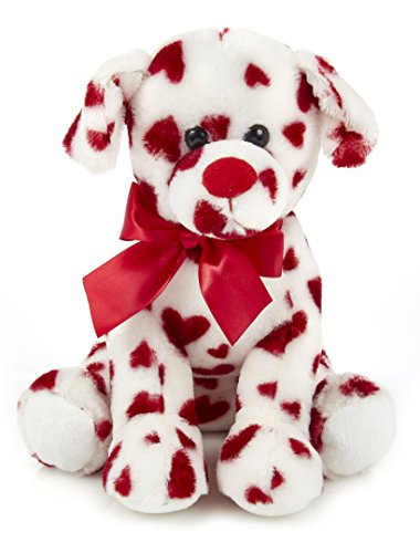 Bearington Romantic Rover Plush Stuffed Animal Puppy Dog with Hearts, 12 inches ()