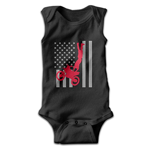 Toddler Green Furry Jumpsuit (FSFUNNY Infant Sleeveless Onesies USA America Flag Motorcycle Bodysuit For Baby Boy And Girl 100% Cotton Jumpsuit)
