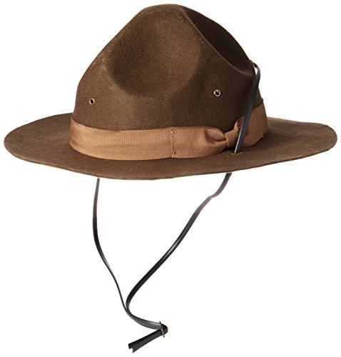 Jacobson Hat Company Men's Wool Felt Mountie, Brown, Adult Large]()