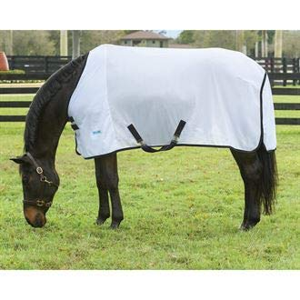 Upland by Dover Saddlery Fly Sheet, Size 74, Silver/Black