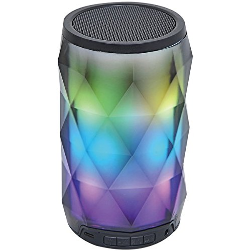 Portable Bluetooth Diamond Speaker with Color-Changing Lights & Touch Control
