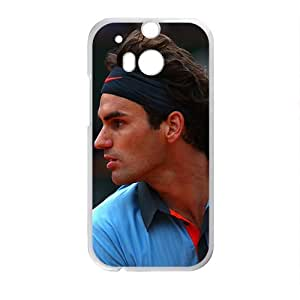 Happy Rafael Nadal White Phone Case for HTC One M8