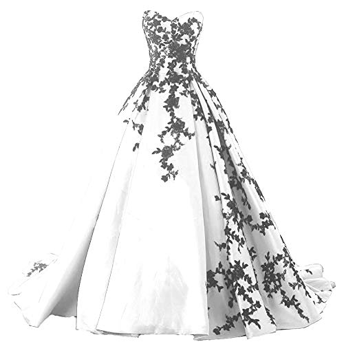 See the TOP 10 Best<br>Gothic White Wedding Dresses