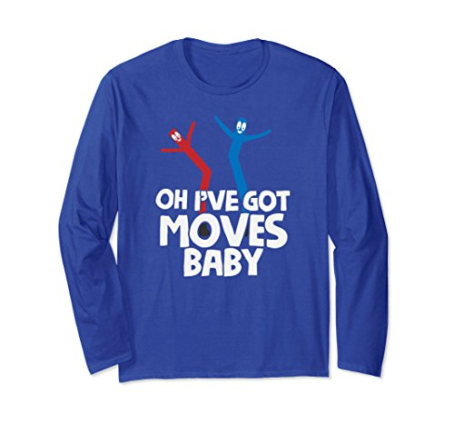 Waving Arm Inflatable Tube Man Costume (Unisex Air Dancer Long Sleeve Shirt Oh I've Got Moves Baby Tee XL: Royal Blue)