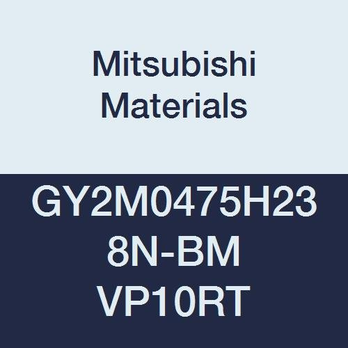 Mitsubishi Materials GY2M0475H238N-BM VP10RT GY Carbide Grooving Insert for Copying//Medium Feeds Pack of 10 0.094 Corner Radius Sintered Peripheral Coated Neutral 0.187 Groove Width H Seat