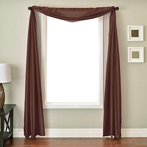 (Softline Home Fashions NETHcprSC Bella 6 Yard Window Scarf Copper)