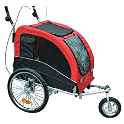 Aosom Elite II Pet Dog Bike Bicycle Trailer Stroller Jogger - Red
