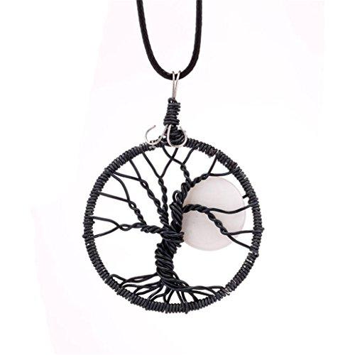[Natural Gem Tree Pendant Necklace Handmade Necklace - Moonlight flower] (Zora Link Costume)