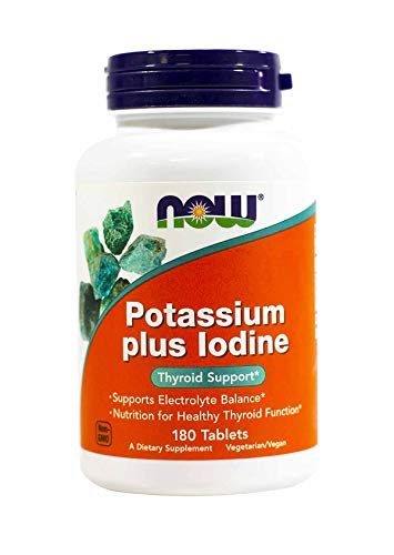 Now Potassium Plus Iodine, 180 Tablets (Pack of ()
