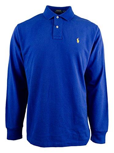 Polo Ralph Lauren Men's Long Sleeve Mesh Polo Shirt-HR-XS