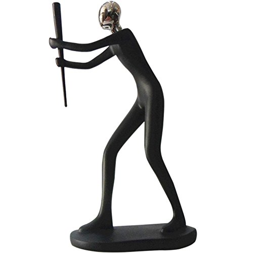 ZZ Lighting Fashion Resin Art Sports Man Figure Home Office Desk Wall Unique Decor Sculpture Holiday Birthday Gift (Baseball)