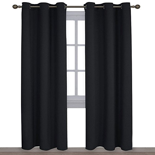 NICETOWN Autumn/Winter Thermal Insulated Solid Grommet Blackout Curtains/Drapes