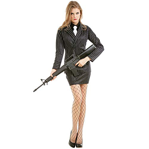 Dangerous Dame Women's Halloween Costume | Classic 1920s Gangster Outfit, L for $<!--$19.99-->
