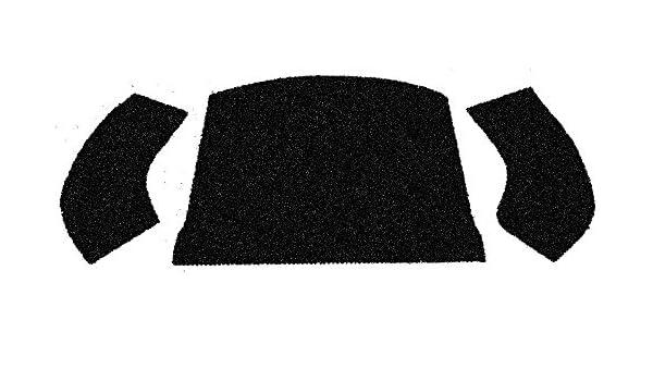 PIECE EMPI 3997 56-72 VW BUG /& SUPER CONVERTIBLE REAR WELL CARPET KIT BLACK 3