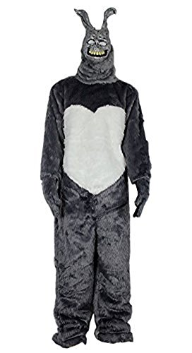 Donnie Darko Frank The Bunny Adult Costume Fancy Dress Mask Jumpsuit Faux Fur (Frank The Bunny Costumes)