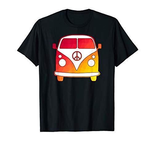 Sunset Camer Van, peace sign, road trip, wanderlust, hippy T-Shirt ()