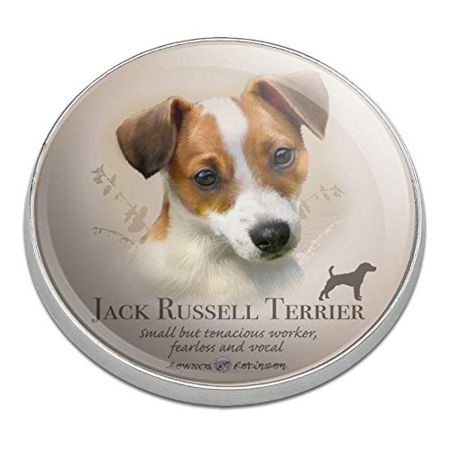 GRAPHICS & MORE Jack Russell Terrier Dog Breed Golfing Premium Metal Golf Ball Marker