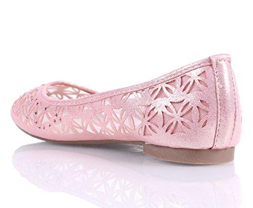 Nuovi Lampeggini Stile Carino Stretti Scarpe Da Balletto Da Donna Nuove Senza Scatola Rosa