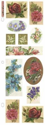 EK Success Sticko Nostalgiques Stickers, Floral - Sticko Stickers Nostalgiques