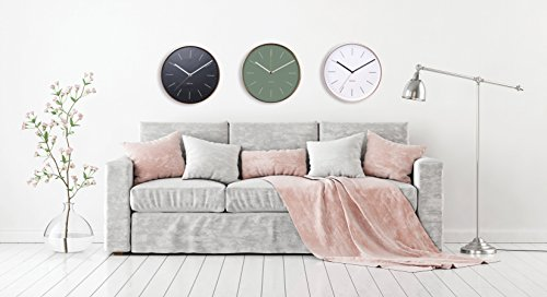 Karlsson Modern Wall Clocks Ka5507Bk - Karlsson Wall Clocks are a perfect home and wall décor item. Wall Hanging Clocks: easy to install with the provided hardware. Simple yet modern design are the hallmark of the renowend Karlsson clocks brand. - wall-clocks, living-room-decor, living-room - 41hsFEw3aTL -
