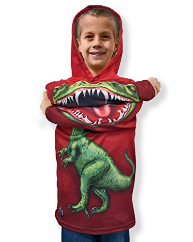 Mouthman Child Raptor Hoodie T Shirt Dinosaur Kids