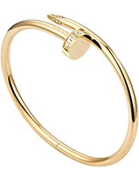 Titanium Steel Bracelet Ladies Gold Fashion Personality Gorgeous Screw Cuff Bracelet Valentine's Day Wedding