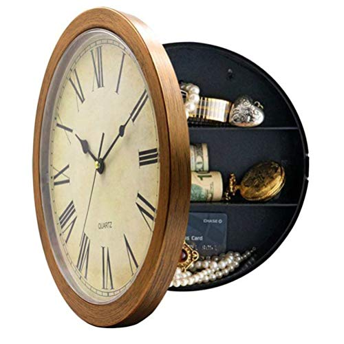 - Lapha' Mounting Clock Safe Hidden Wall Vintage Style Secret Jewelry Security Money Cash Compartment Stash Hanging Container Creative Box