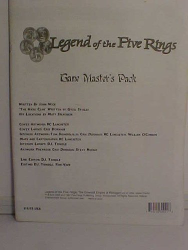 Legend of the Five Rings Game Master's Pack