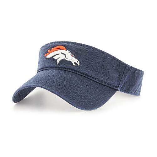 (OTS NFL Denver Broncos Male Visor, Navy, One)