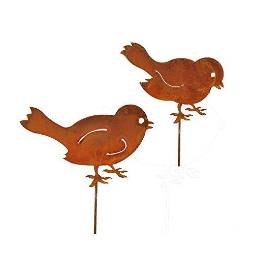 Blümelhuber Gartenstecker 2er Set Vögel Bluemelhuber