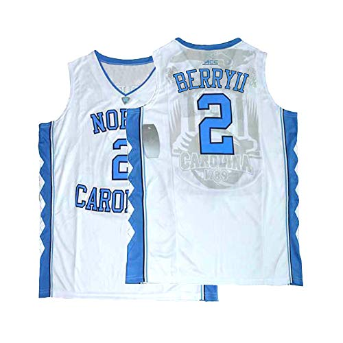 Mens Berry Jersey North Carolina 2 College Tar Heels Basketball Joel Sizes White (Medium) ()