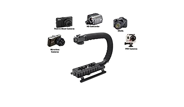 Pro Video Stabilizing Handle Grip for Minolta DiMAGE 2300 Vertical Shoe Mount Stabilizer Handle