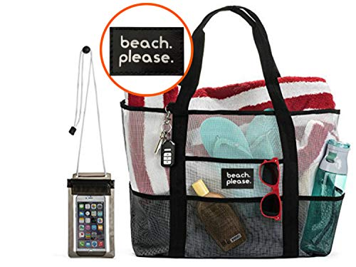 Uk Import Duty Calculator Free >> XL Heavy Duty Mesh Beach Bag & Free Phone Case-Toy Tote,Laundry Bag, Picnic Tote