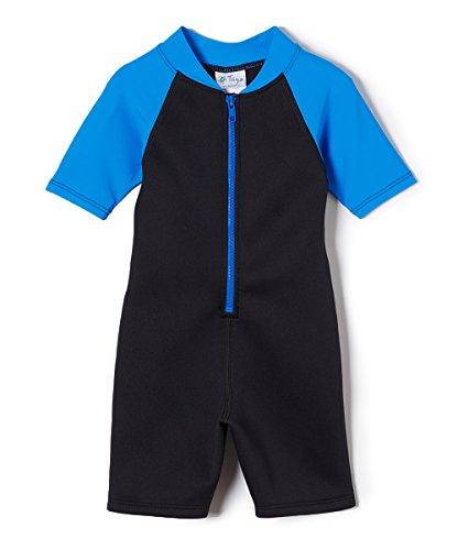 Tuga Boys Shorty 1.5mm Neoprene/Spandex Wetsuit (UPF 50+), Sky, 2 yrs ()