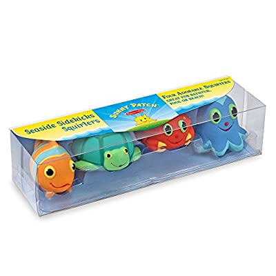 Melissa & Doug Sunny Patch Seaside Sidekicks Squirters With 4 Squeeze-and-Squirt Animals - Water Toys for Kids: Melissa & Doug: Toys & Games