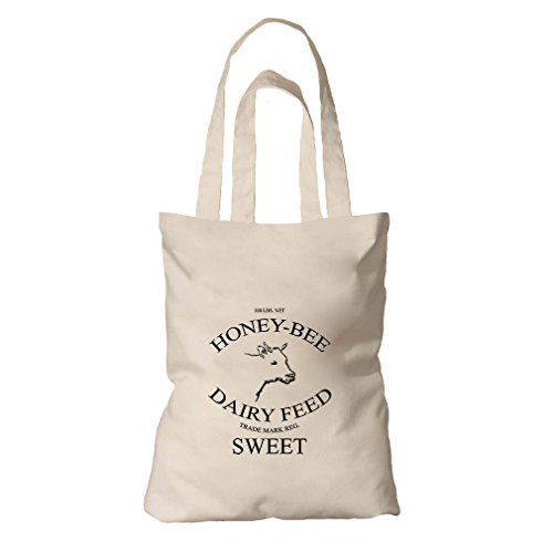 Honey Bee Dairy Feed Organic Cotton Canvas Tote Bag Tote -