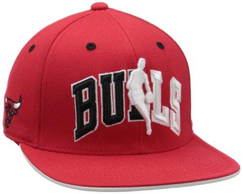 Official Cap Draft (NBA Chicago Bulls Official Draft Cap, Black/Red, L/XL)
