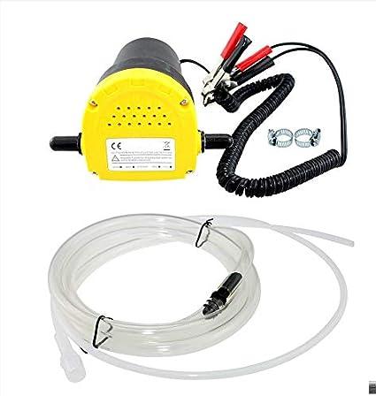12V 60W bomba de transferencia 250L / hora extractor de aceite líquido bomba de succión diesel de la succión para el coche, moto, Quad: Amazon.es: Coche y moto