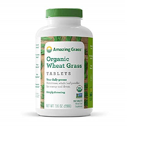 Amazing Grass Organic Wheat Grass Tablets, 200-Count Bottle