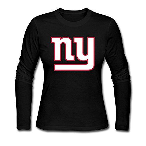 AUSIN Women's NY SportGiant Casual Long Sleeve Tshirt Black M -