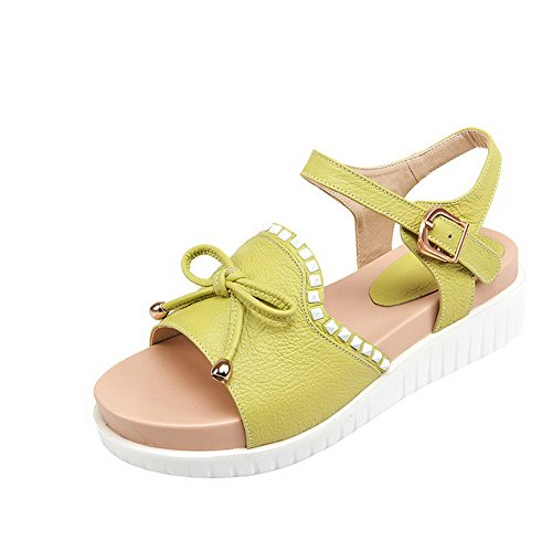 Assorted Material Soft Toe Color Buckle Open Women's WeenFashion Cyan Kitten Heels Sandals 8n41OExq