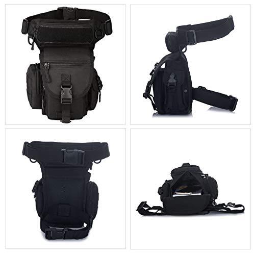 Huntvp Bolsa de Pierna Bolsa Táctical Militar Impermeable para Correr Senderismo Ciclismo Camping Caza, Negro/Verde/Marrón/Camuflaje 7