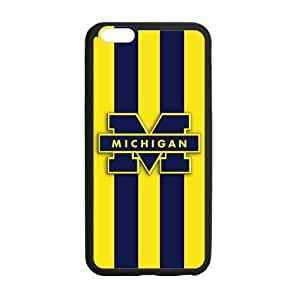 Custom Cool NCAA Michigan Wolverines Pattern Phone Case Laser Technology for iPhone 6 Plus Designed by HnW Accessories