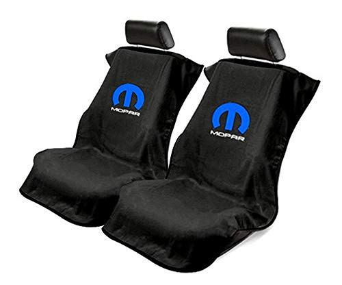 Seat Armour Universal Black Towel Front Seat Covers for Mopar -Pair