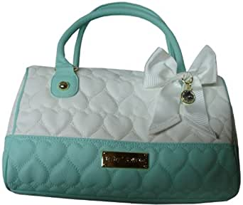 Betsey Johnson Purse Handbag Be Mine Satchel Bone