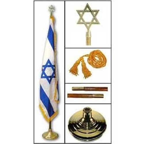 Israel Indoor Flag and pole (Israel Indoor Flag)