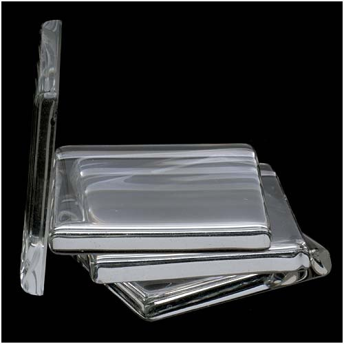 Jewelry  Square Glass Tile Pendant, 35mm, Clear (35 Mm Flat Square)